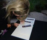 Signing the Photo Guestbook